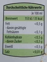 Citrovin Limette - Nutrition facts