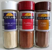 Gewürze (Knoblauch granuliert, Paprika rosenscharf, Zimt gemahlen) - Produkt