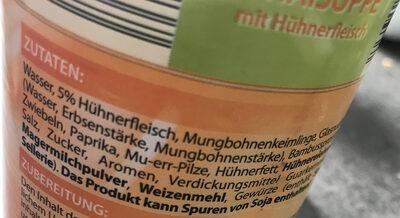 Bihunsuppe - Ingrédients - de