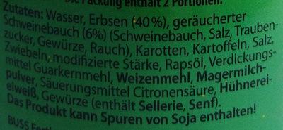 Erbsen-Eintopf - Inhaltsstoffe