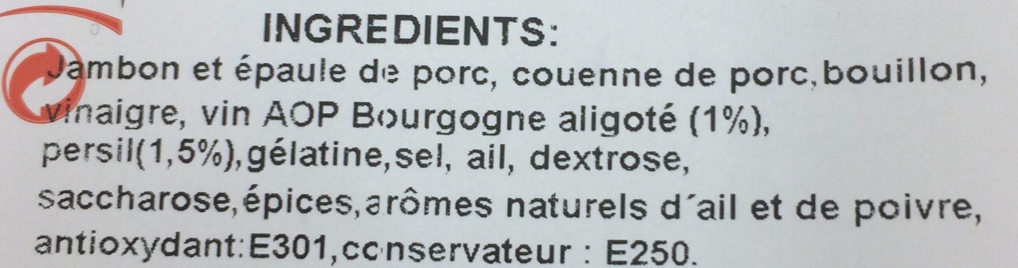 Jambon persillé - Ingrediënten