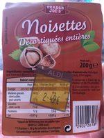 Noisettes décortiquées entières - Produit - fr