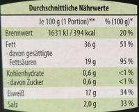 Gartenkräuter marinierter Grillkäse - Nährwertangaben