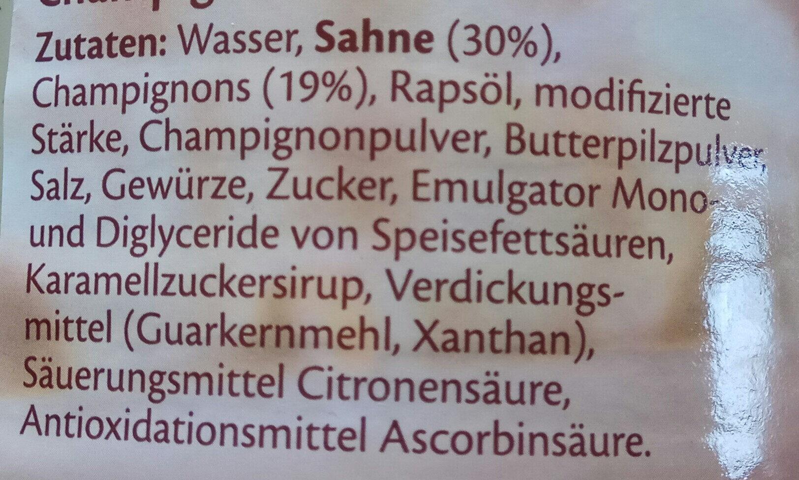 Sahnesauce mit Chapignons - Ingredients - de