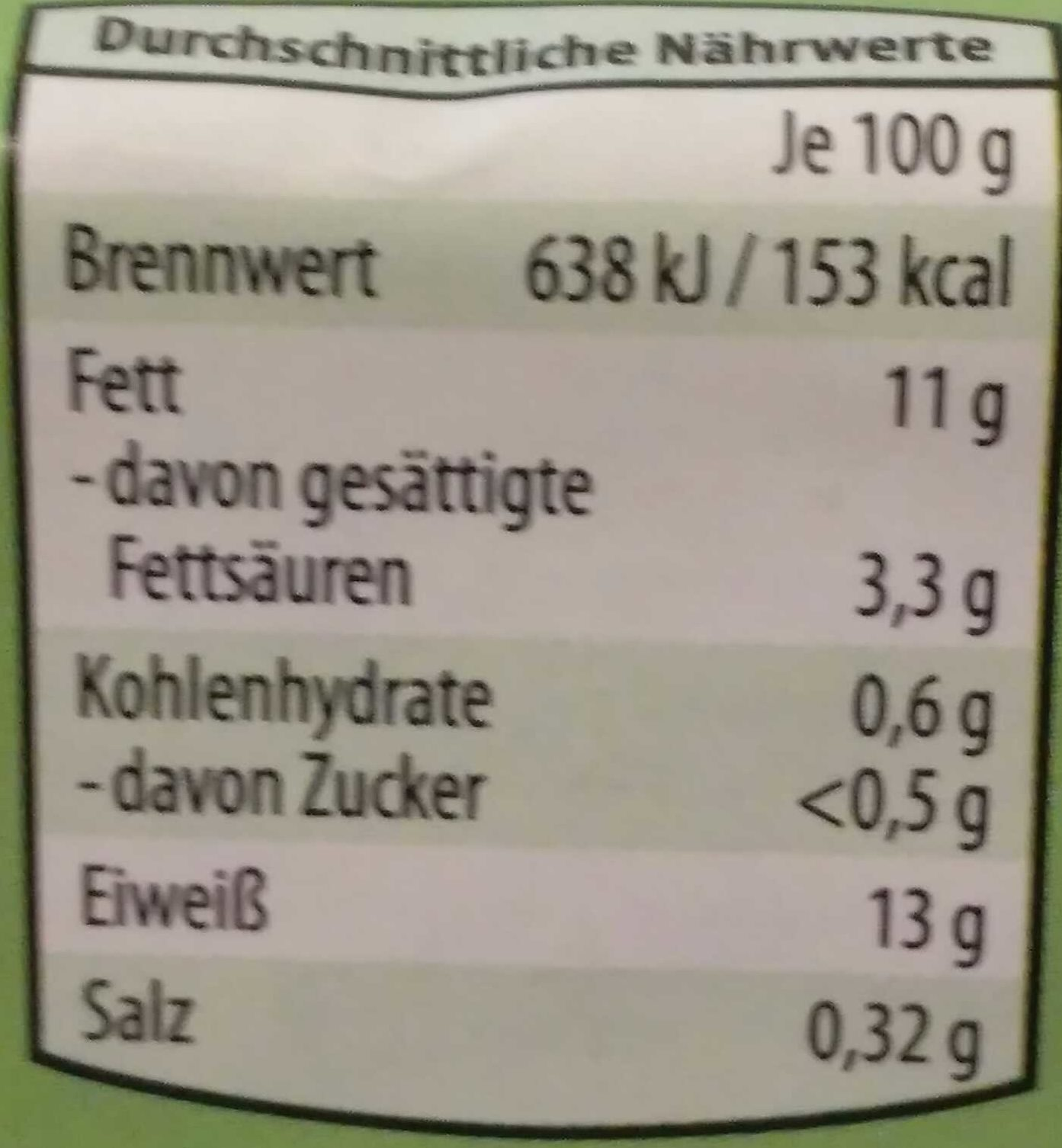 Eier (Freilandhaltung) - Nährwertangaben - de