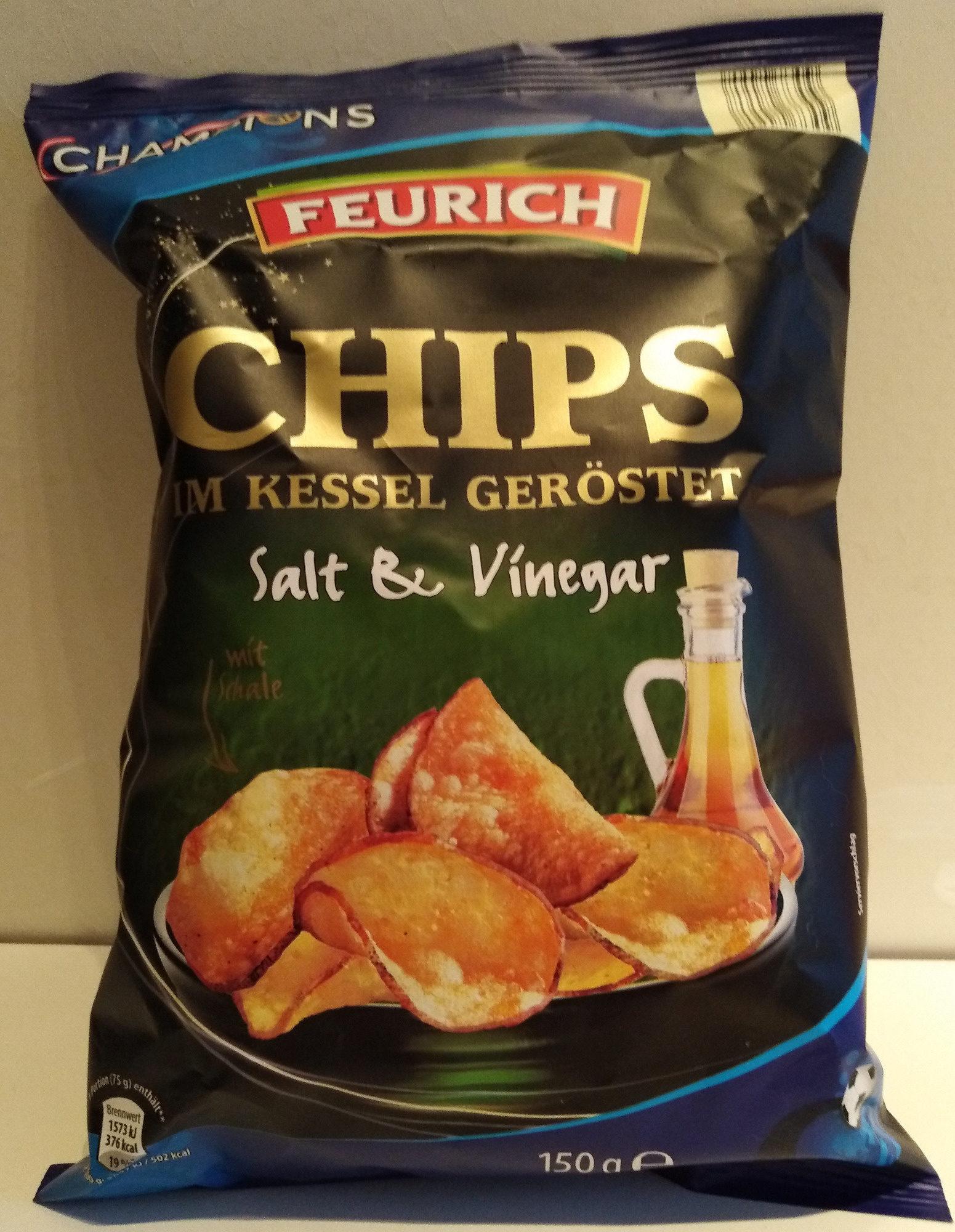 Chips im Kessel geröstet (Salt & Vinegar) - Product - de