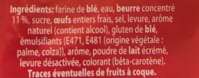 Brioche Tranchée pur Beurre - Ingrediënten - fr