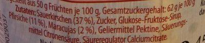 Kirsch-Pfirsich-Maracuja - Ingredients - de