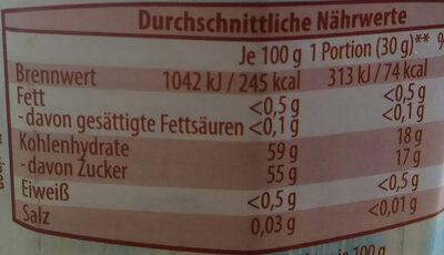 Kirsch-Pfirsich-Maracuja - Nutrition facts - de