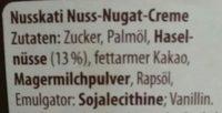 Nusskati - Ingredients