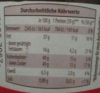 Nusskati - Nutrition facts