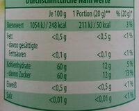 Mermelada extra de fresa - Informations nutritionnelles