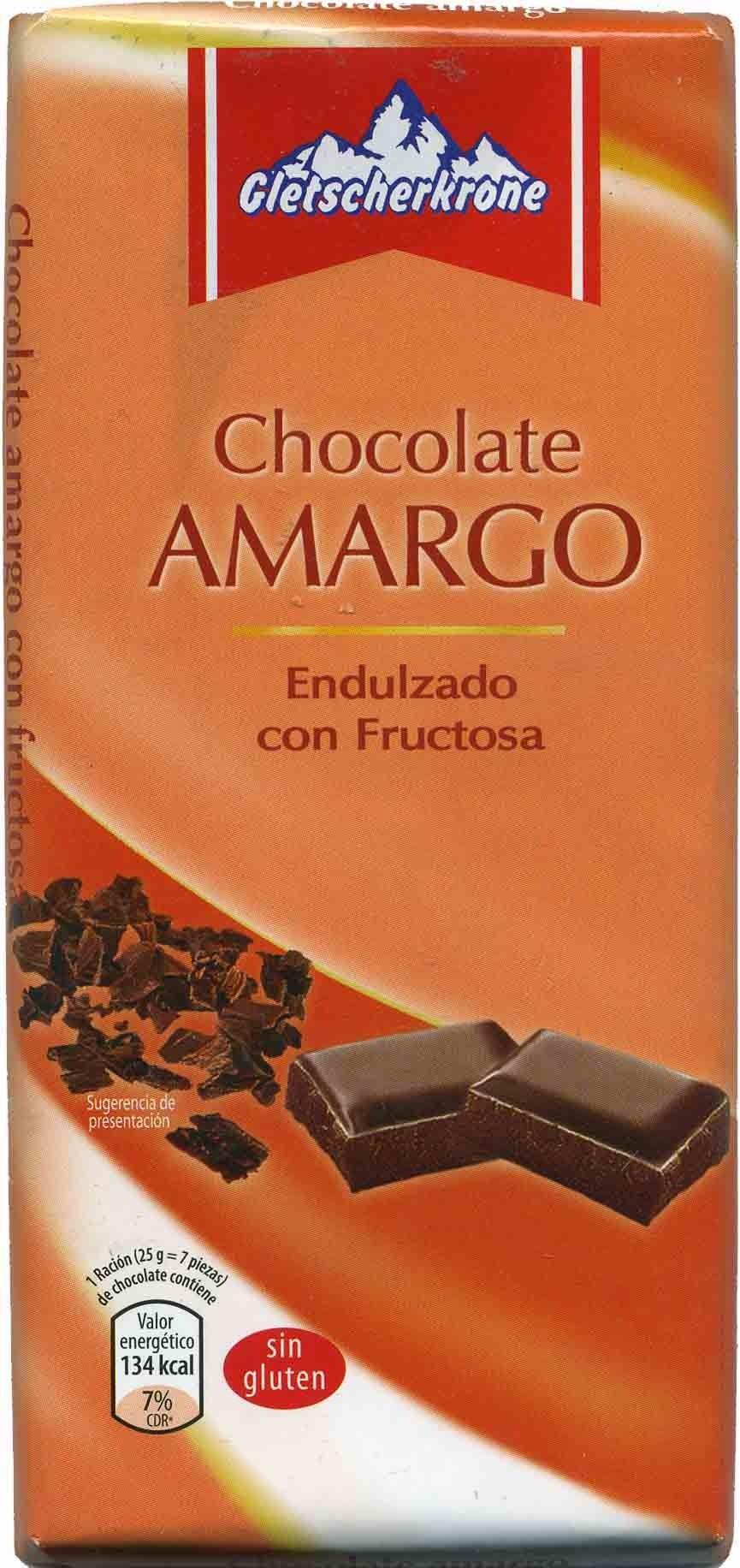 Tableta de chocolate negro con fructosa 55% cacao - Product
