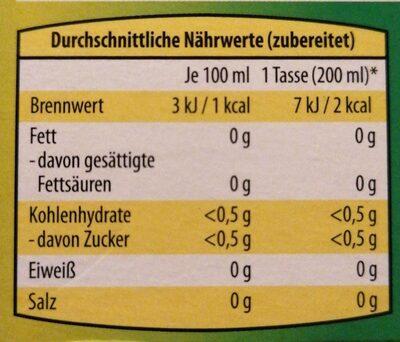 Kamille - Nährwertangaben - de