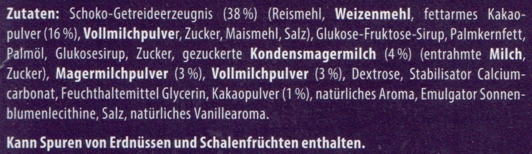 Knusper Schnitte Kakao - Ingredients