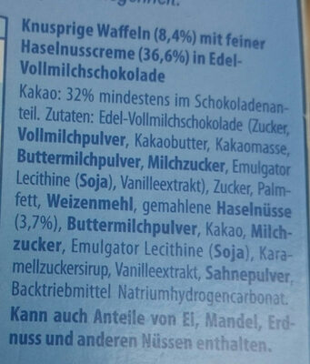 Knusper-Riegel Vollmilch - Ingredients