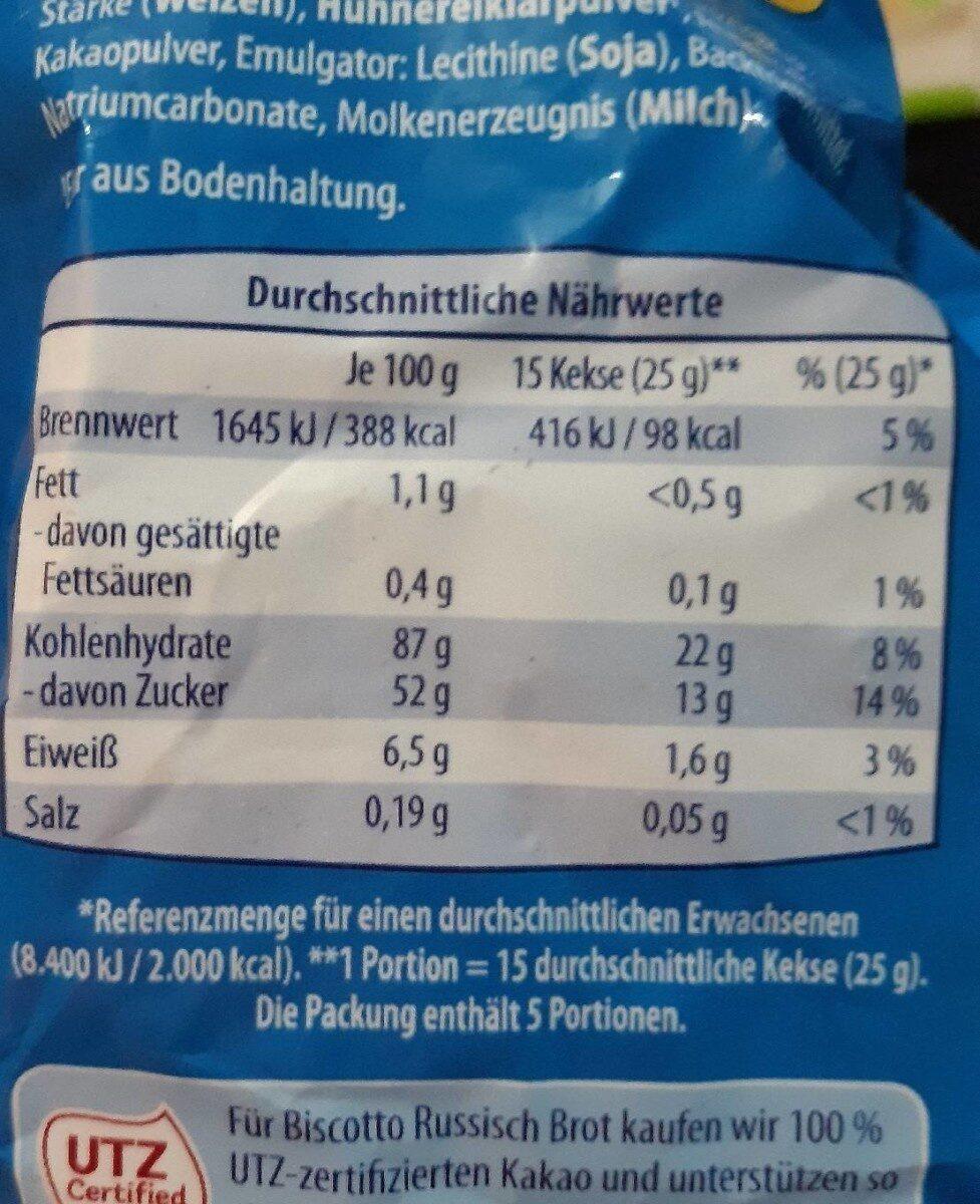 Russisch Brot Aldi - Nutrition facts - de