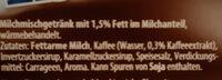Eis-Kaffee - Inhaltsstoffe
