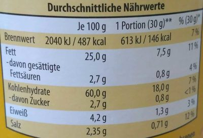 Kartoffel Rings - Nutrition facts
