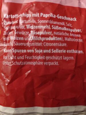Feurich Chips Paprika - Ingredients