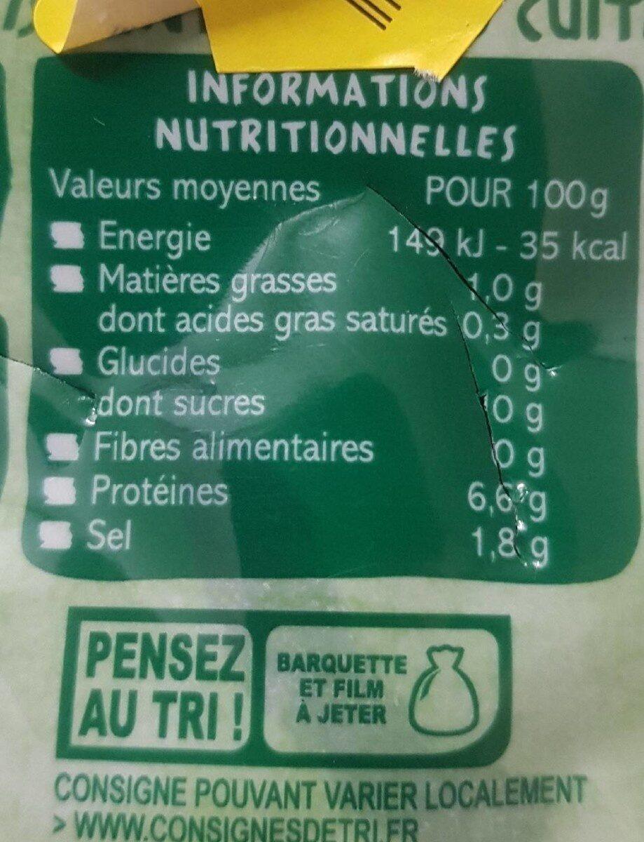 Moules cuites au naturel - Informations nutritionnelles - de
