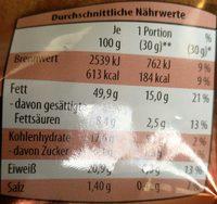 Peanut mix - Informations nutritionnelles - de