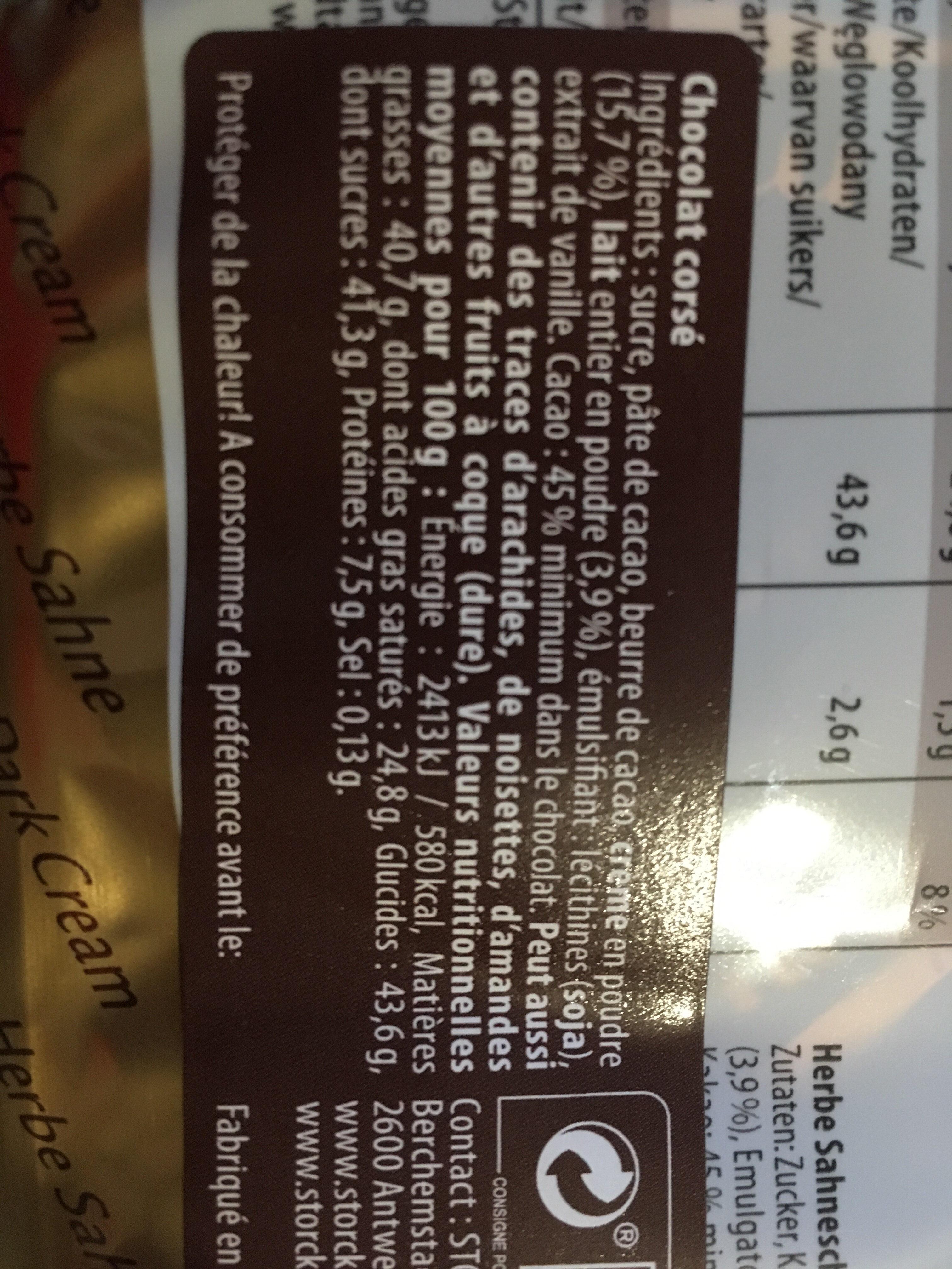 Manuel sahne-almond cream - Ingrédients