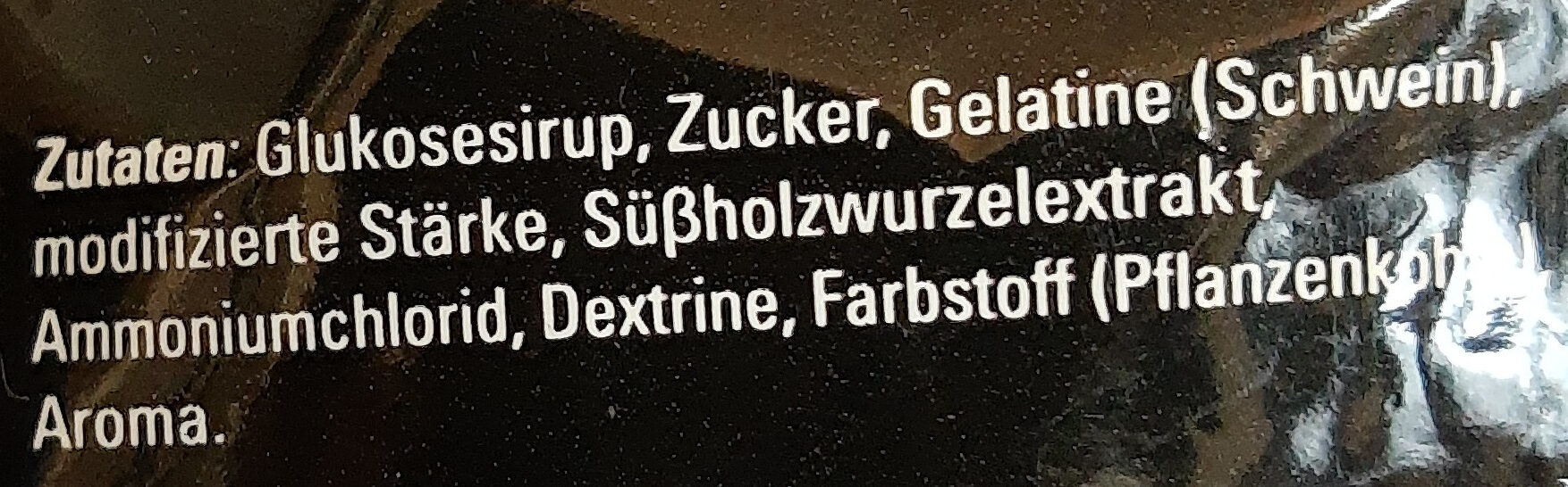 Lakritz - Ingredients - de
