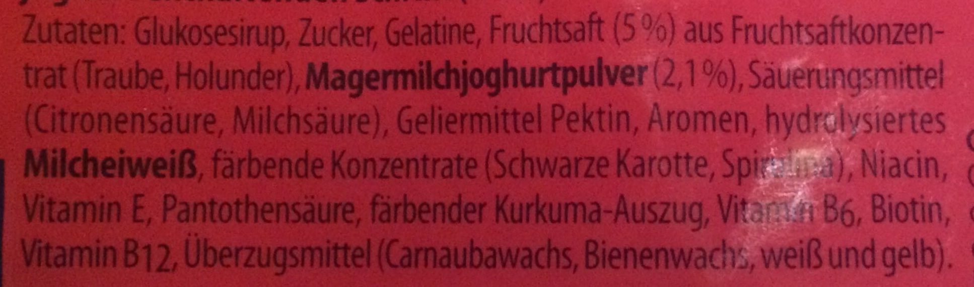 Lachgummi Frucht&Joghurt - Ingredients