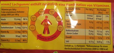 Lachgummi Frucht&Joghurt - Nutrition facts
