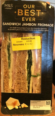 Sandwich Jambon Fromage - Product