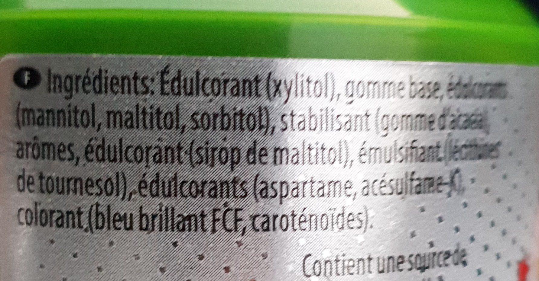 Chewing-gum eucalyptus et menthol - Ingrédients - fr