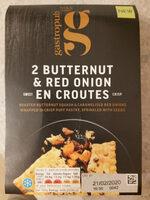 butternut and red onion en croutes - Produkt - en
