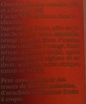 chocolat noir 85 % cacao - Ingrediënten - fr