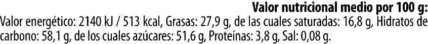 Edel-Zartbitterschokolade Cranberry 52 % Kakao - Información nutricional - es