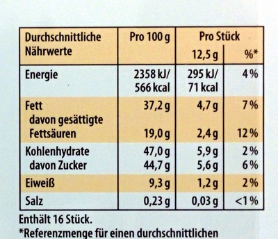 Merci Finest Selection Mandel Knusper Vielfalt - Voedingswaarden