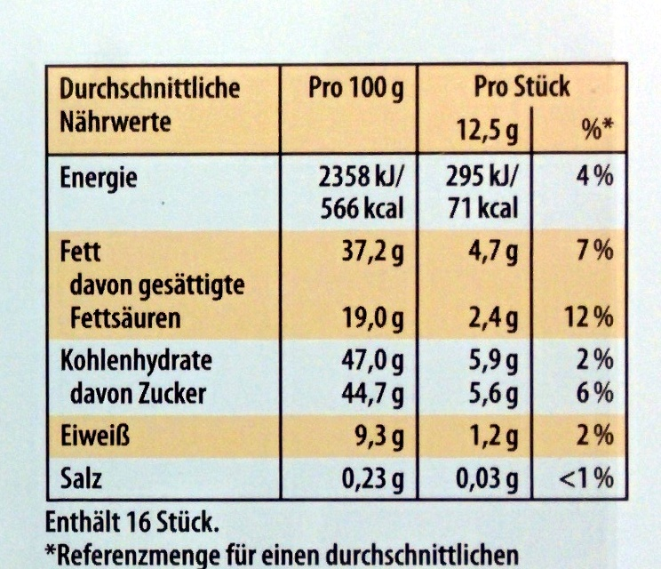 Merci Finest Selection Mandel Knusper Vielfalt - Voedingswaarden - de