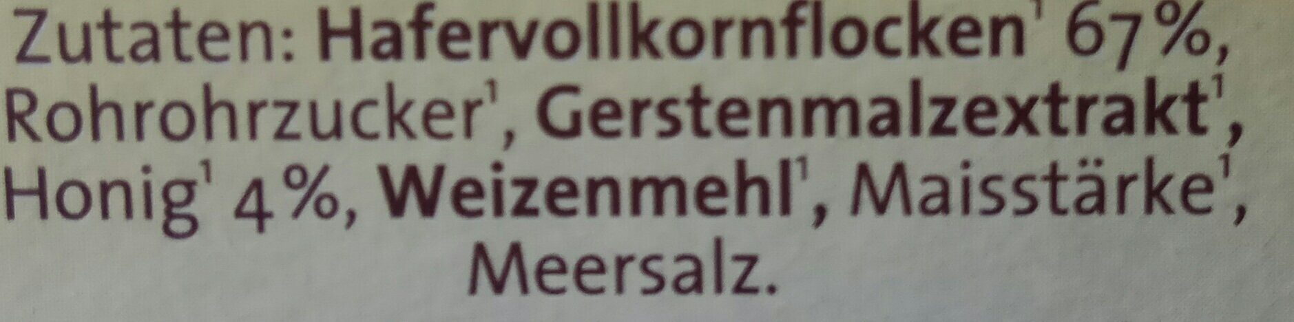 Haferpops - Ingredients - de