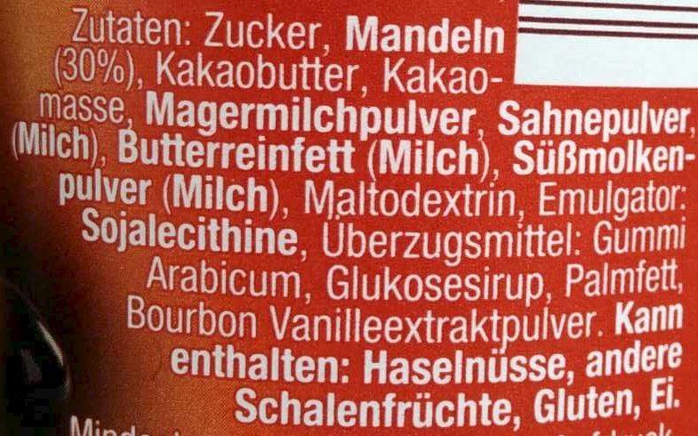 Mandel-Pralinen - Ingrediënten - de