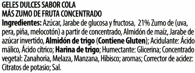 Cintas pica cola - Ingredientes - es