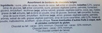 Chocolat Belges - Ingredients - fr