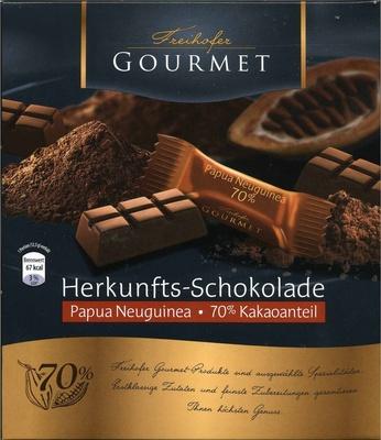 Edelbitterschokolade Papua Neuguinea 70% Kakao - Produkt