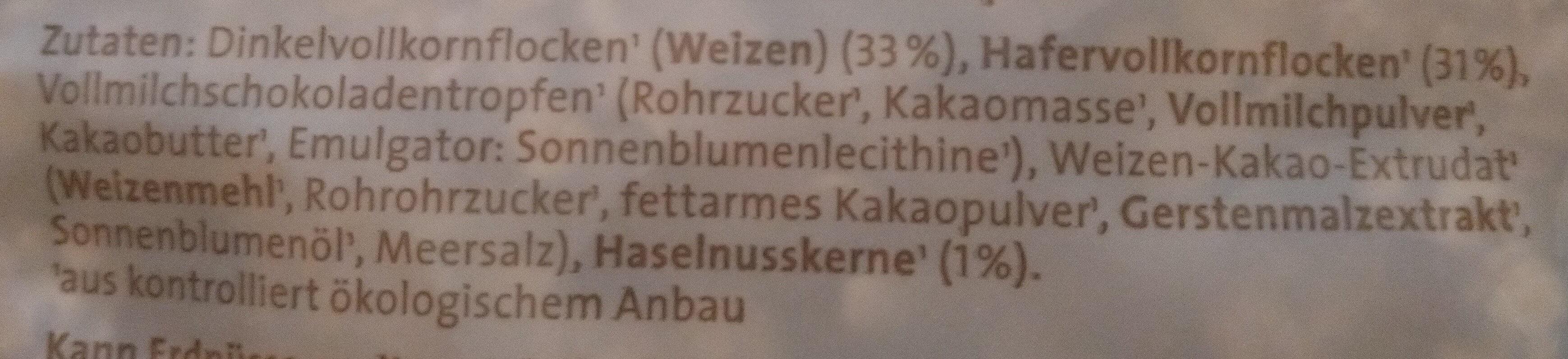 Dinkel-Schoko-Müsli - Ingrédients - de