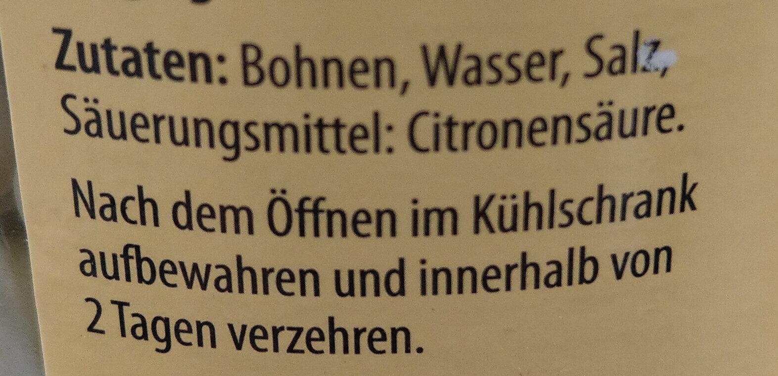 Junge Große Bohnen - Ingrediënten - de