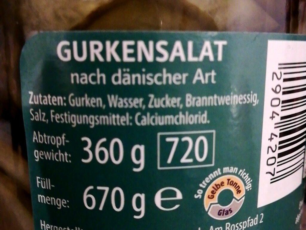 Gurkensalat - Ingredients - de