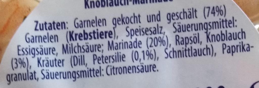 Marinierte Garnelen Knoblauch & Petersilie - Ingredients