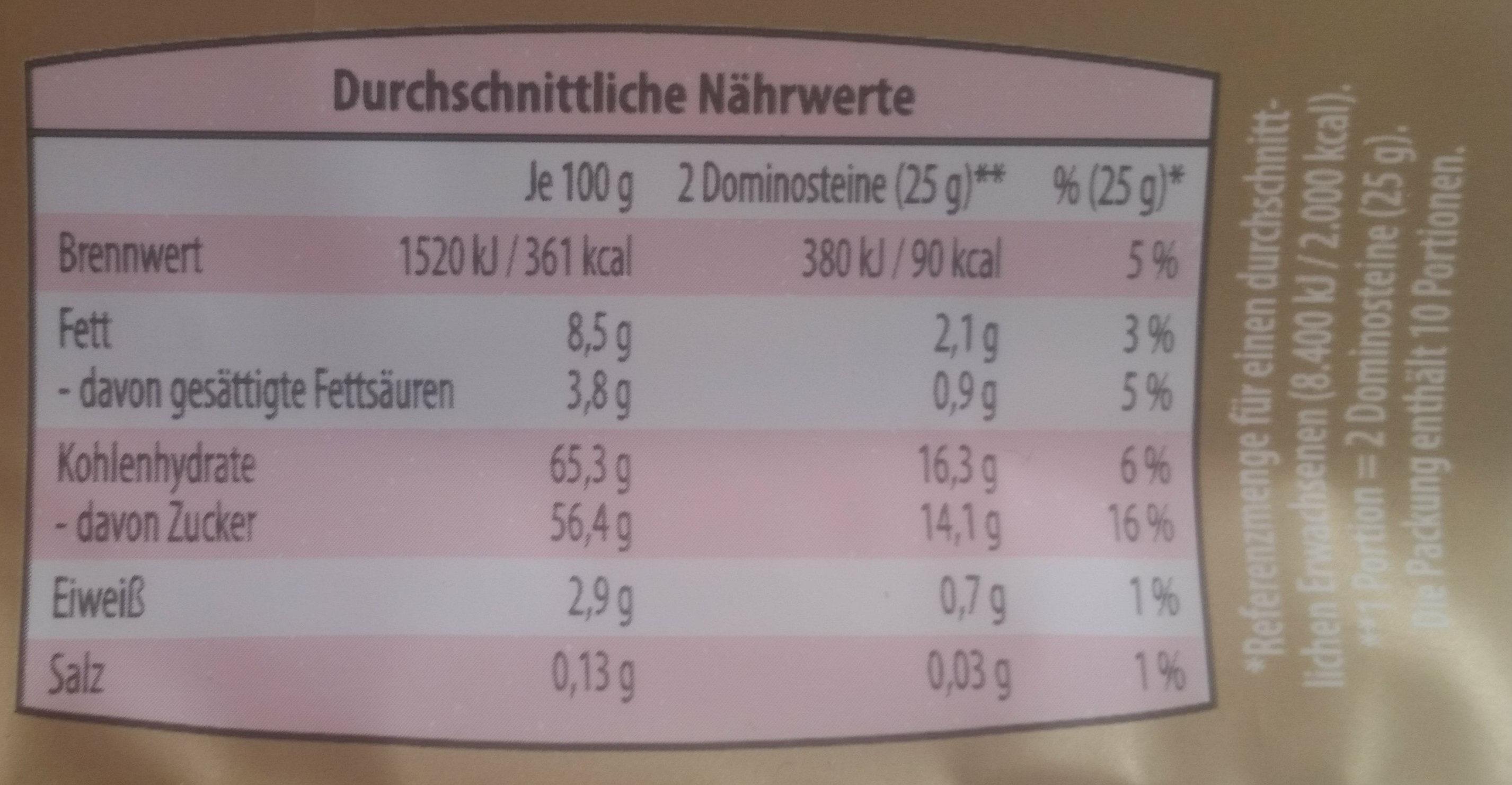 ReichsGraf pan de especias - Nutrition facts