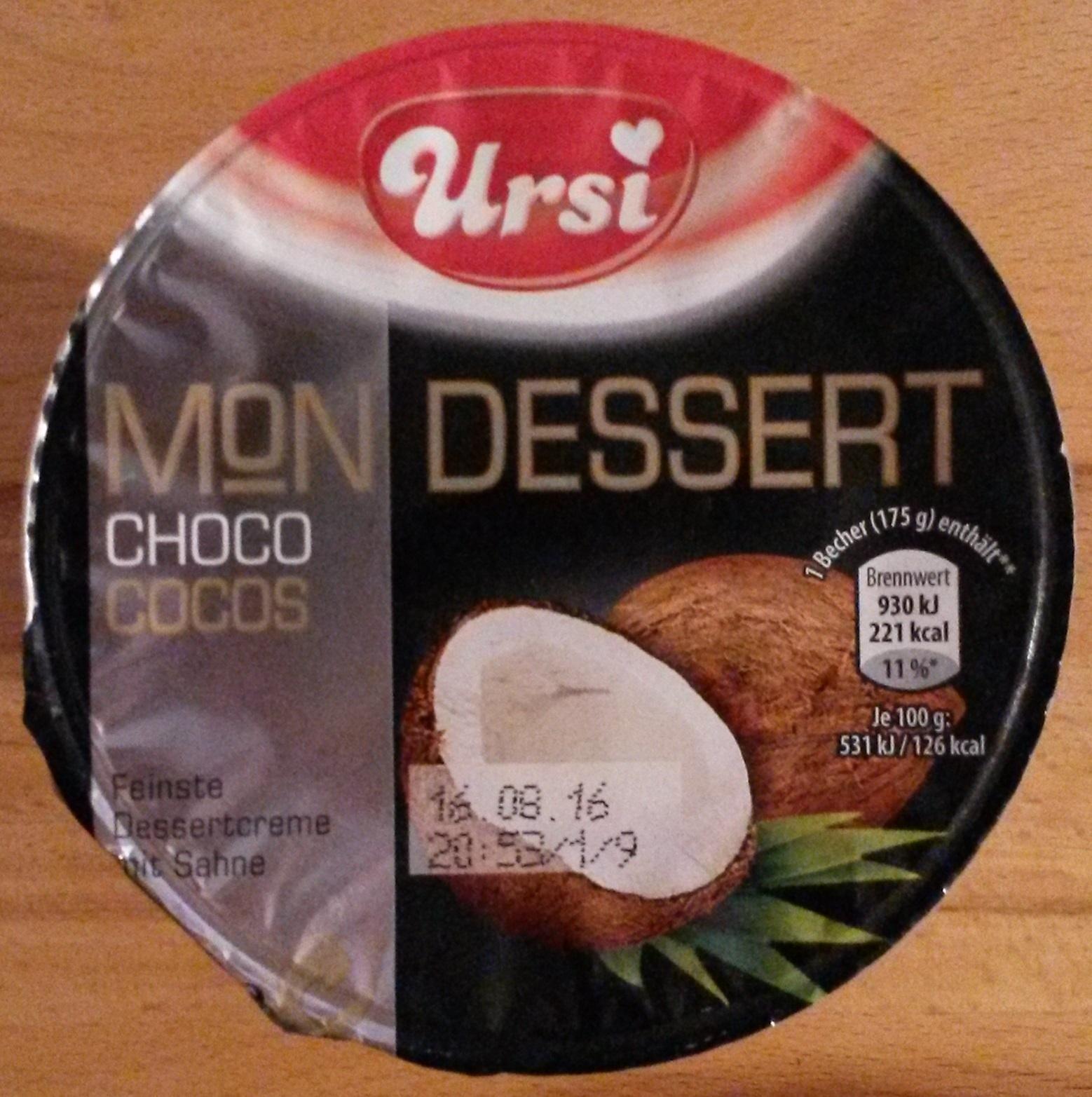 Mon Dessert Choco Cocos - Product