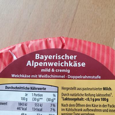 bayrischer alpenweichkäse - Ingredients