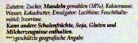 Lübecker Edel-Marzipan - Inhaltsstoffe